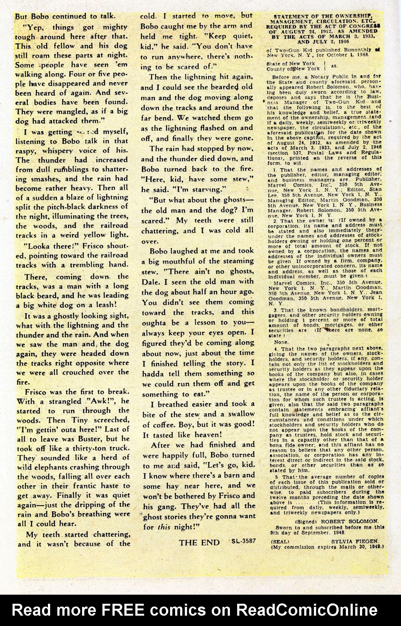 Read online Two-Gun Kid comic -  Issue #7 - 17
