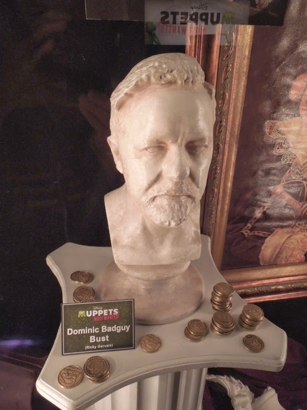 Ricky Gervais bust prop Muppets Most Wanted