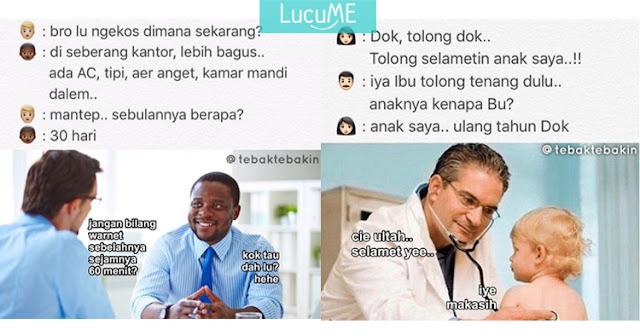 10 Meme Lucu 'Plesetan Obrolan' Ini Kocaknya Bikin Ngakak Guling-guling