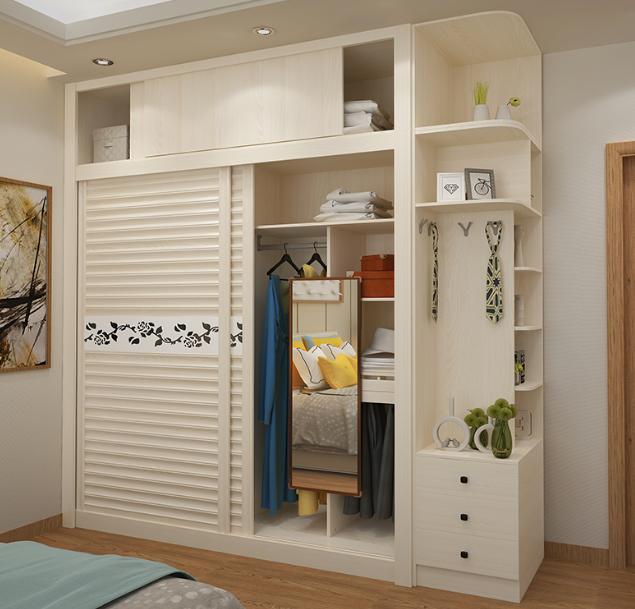 model lemari pakaian pintu geser untuk ruangan kecil