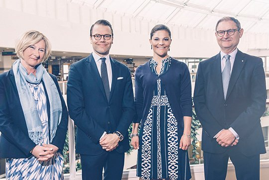 Crown Princess Victoria of Sweden and Crown Prince Daniel of Sweden visited the Swedish Association of Local Authorities and Regions (SALAR)