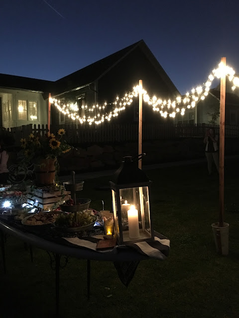 ping pong ball lights, summer soiree by the lake, dinner by the lake, Lake party