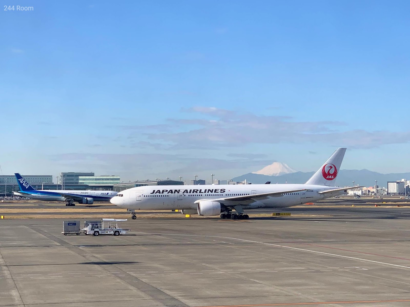 JAL Fleet with Mt.Fuji