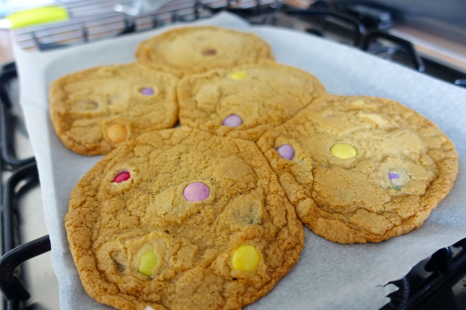 how to make giant smartie cookies