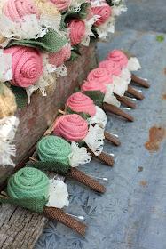 rustic wedding buttonholes