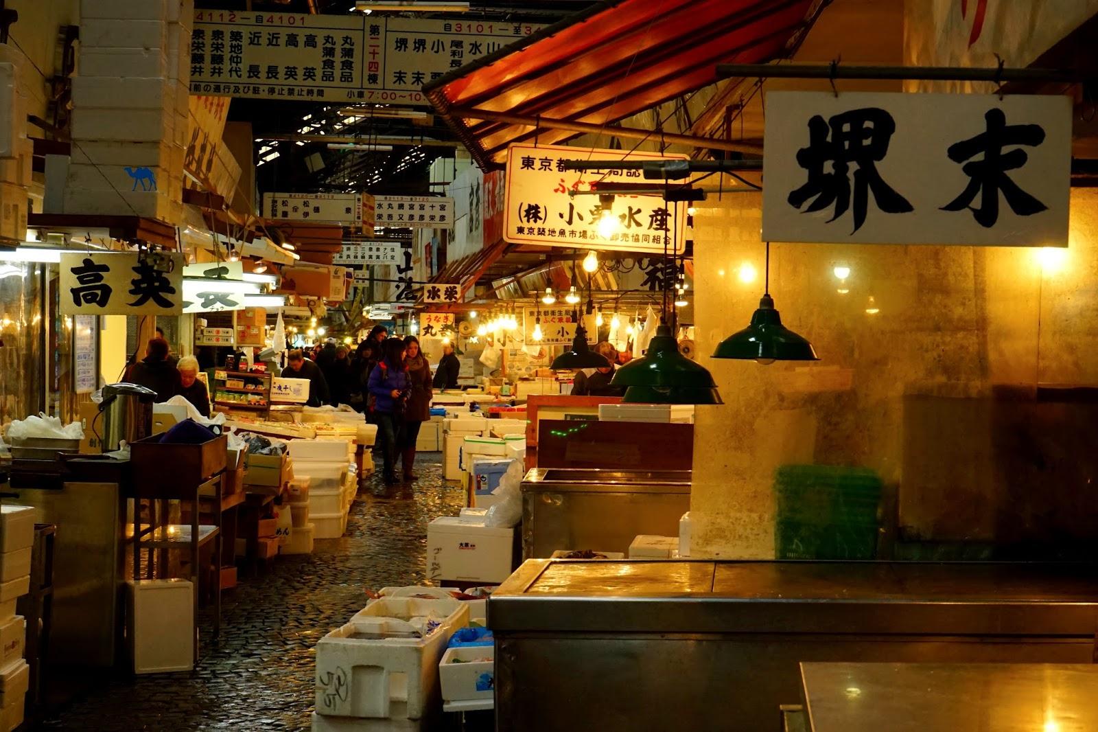 Le Chameau Bleu - Allée du marché de poisson de tokyo - Tsukiji