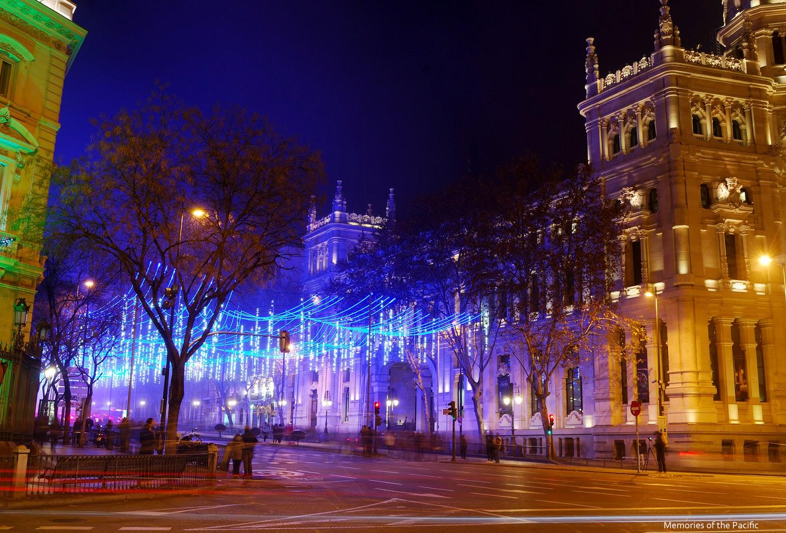 madrid christmas lights alcala casa america ayuntamiento city hall cibeles luces navidad