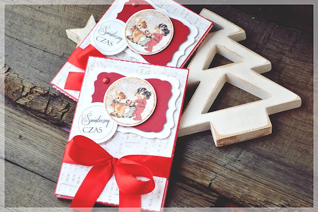 album świąteczny leporello, harmonijkowy, scrapbooking, handmade