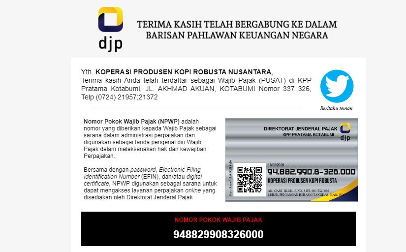 Cara Daftar NPWP Koperasi Online