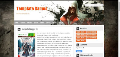 Template Para Blog games gratis Blogger
