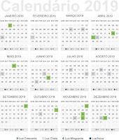 Calendário 2019 download vetor pdf