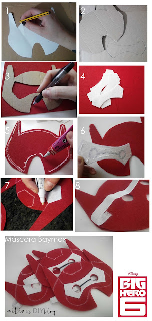baymax mascara DIY mask