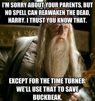 Dumbledore being sort of a hypocrite