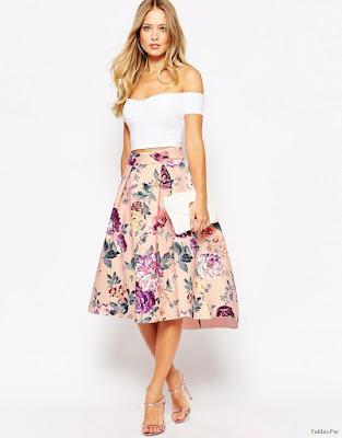 Faldas con Flores
