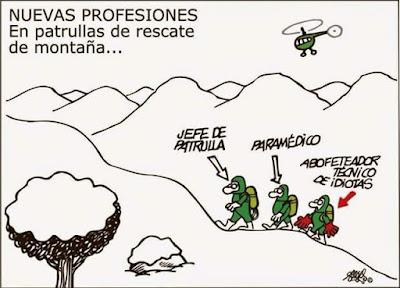 Forges , nuevas profesiones, patrullas de rescate de montaña