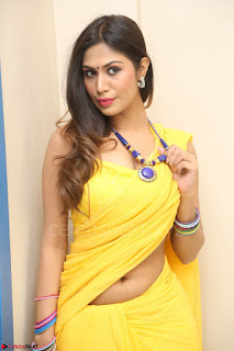 Nishigandha in Yellow backless Strapless Choli and Half Saree Spicy Pics 134.JPG