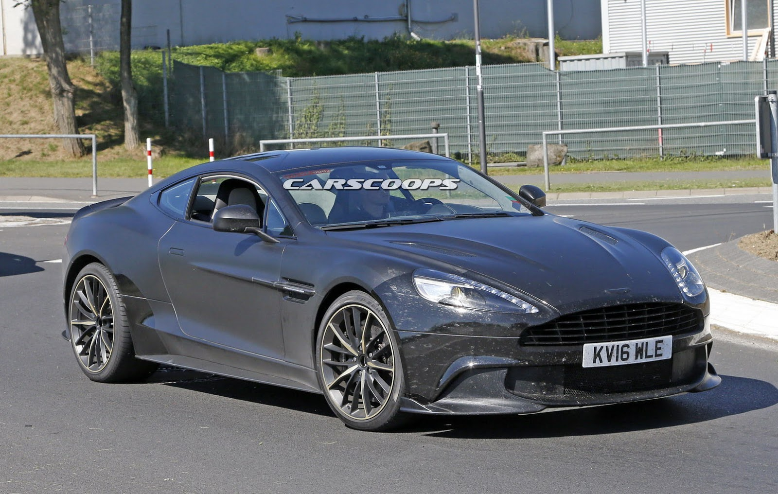 aston martin spied working on final vanquish s model. Black Bedroom Furniture Sets. Home Design Ideas