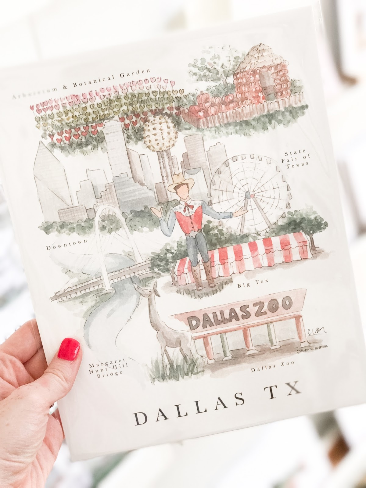 Marry Me In Spring Dallas Print