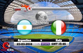 مباراة ايطاليا والارجنتين  23-3-2018