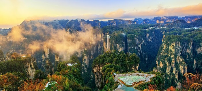 UNESCO World Heritage Zhanjiejia Canyon Amazing of China