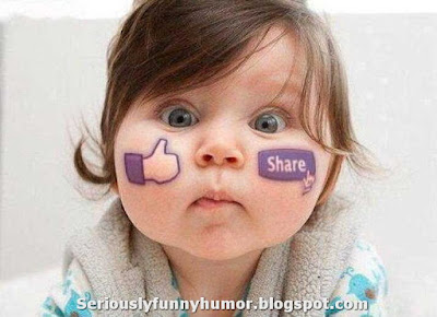 Cute baby with chubby cheeks - Like thumb up, Share!