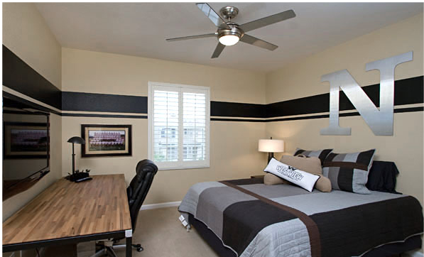 Modern bedroom design ideas for teenage boys - Young male bedroom decorating ideas ...