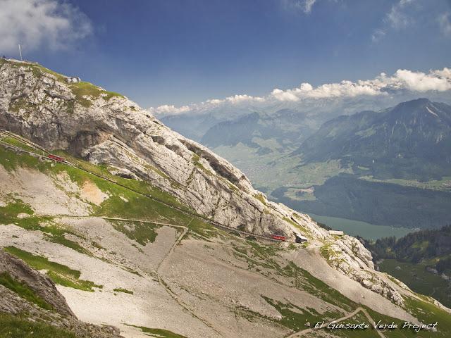 Recorrido Tren Cremallera del Monte Pilatus, Lucerna, por El Guisante Verde Project