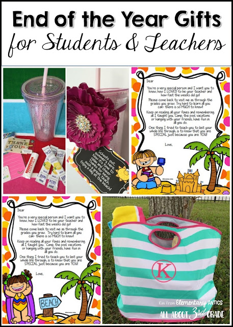 Cute and easy end of the year gift ideas for teachers and students!  These FREEBIE student letters are so fun to mail to your students at home at the end of the year!