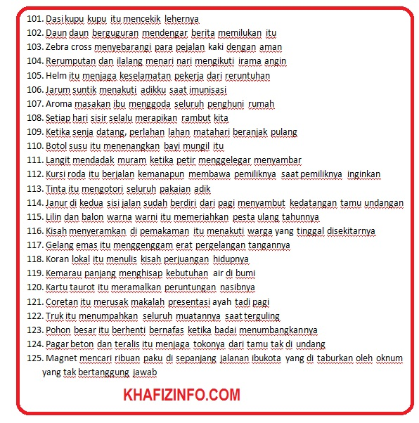 150 Contoh Majas Personifikasi