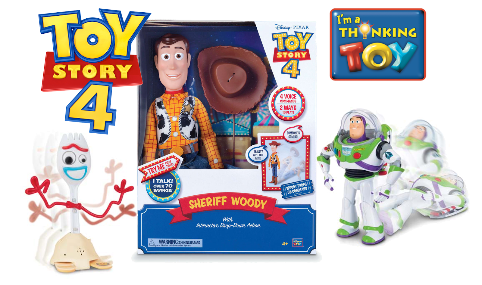 Disney and Thinkway Toys Reveal New 'Toy Story 4