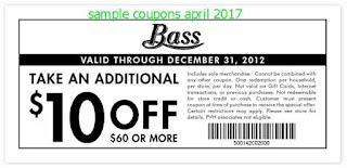 Bass coupons april 2017