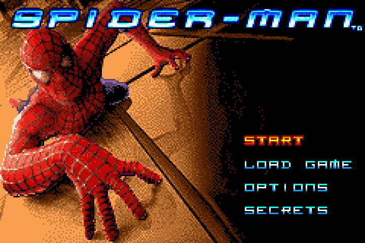 Spider-Man: The Movie title screen