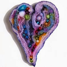 serce z tkanin