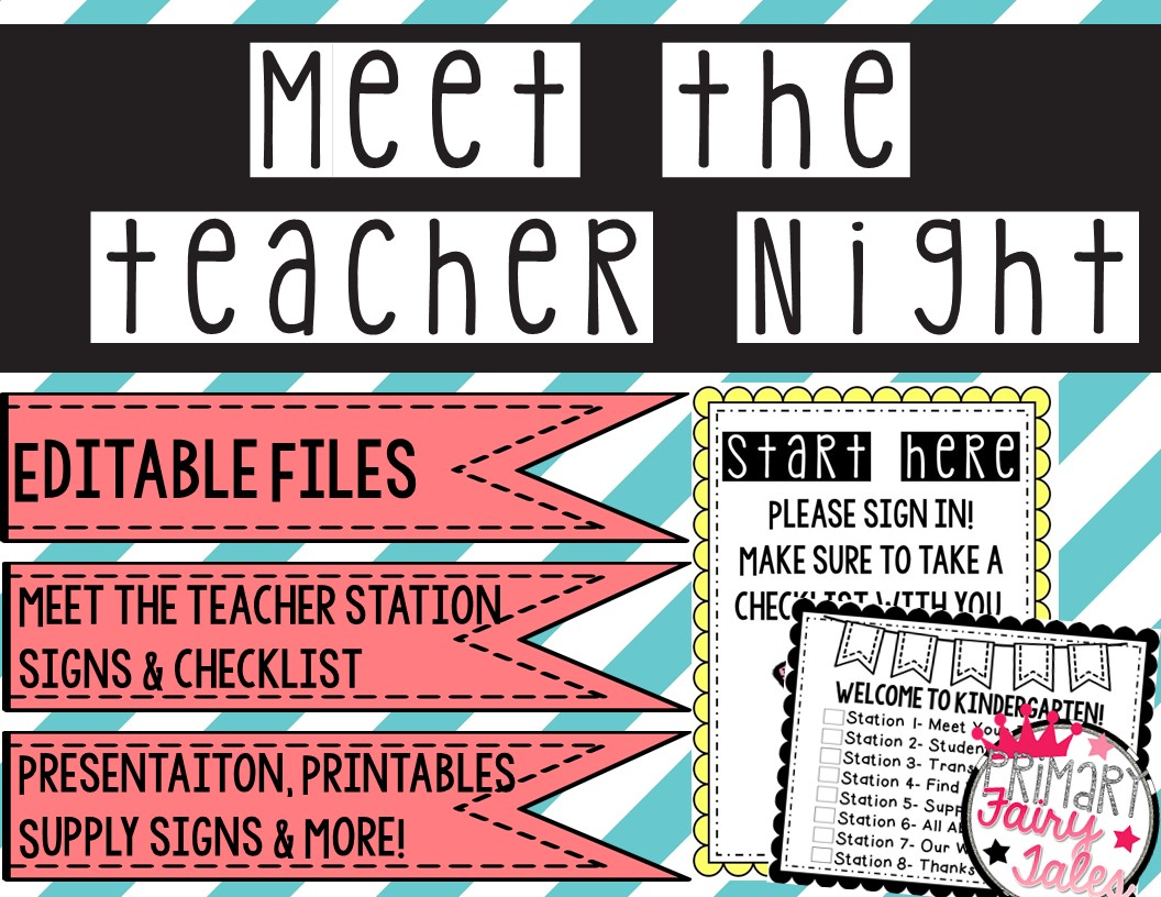 Primary fairy tales meet the teacher night the station signs included in this post a powerpoint presentation template and more you can grab my meet the teacher pack by clicking here pronofoot35fo Choice Image