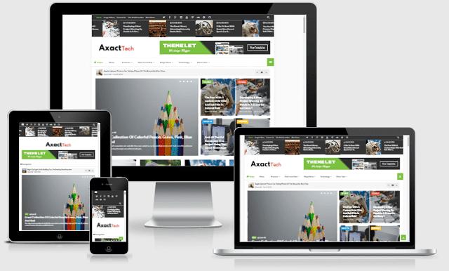 Axact Responsive Magazine Blogger Theme - Giao diện tin tức đẹp 2016