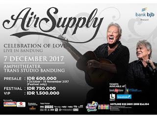 Konser AIr Supply di Bandung 7 Desember 2017