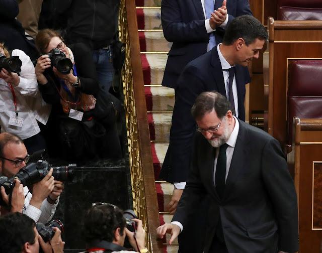 Mariano Rajoy, Presidente de España, fue retirado de su cargo por el congreso