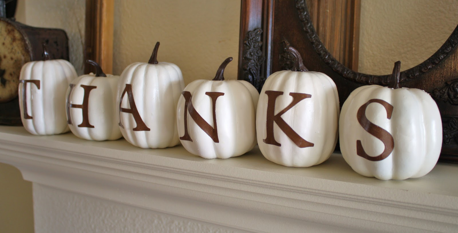 Thanksgiving decor mantle -  Give Thanks Mantel