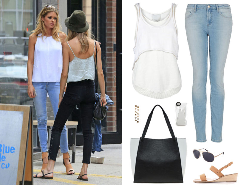 how to dress like doutzen kroes, victoria's secret, doutzen kroes blue jeans white top, doutzen kroes style, doutzen kroes outfits