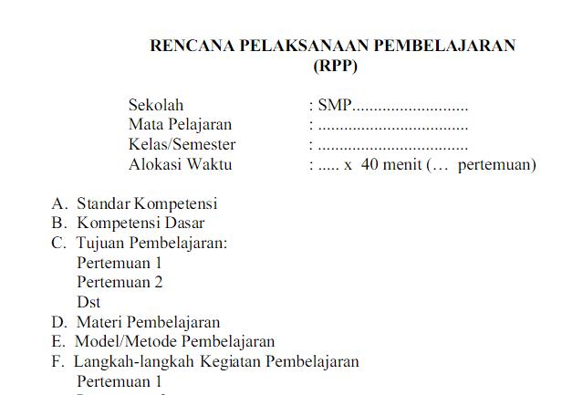 RPP IPA SMP/MTs Kelas 8 Kurikulum 2013 Semester 1 dan 2 docx