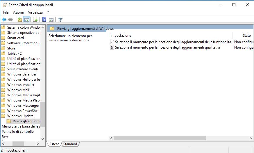 Windows 10 - Editor Criteri di gruppo locali