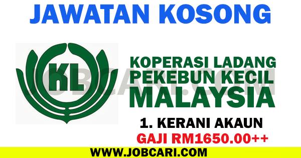 JAWATAN KOSONG KOPERASI LADANG PEKEBUN KECIL MALAYSIA 2016