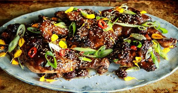 Blackberry Hoisin Honey Barbequed Chicken Recipe