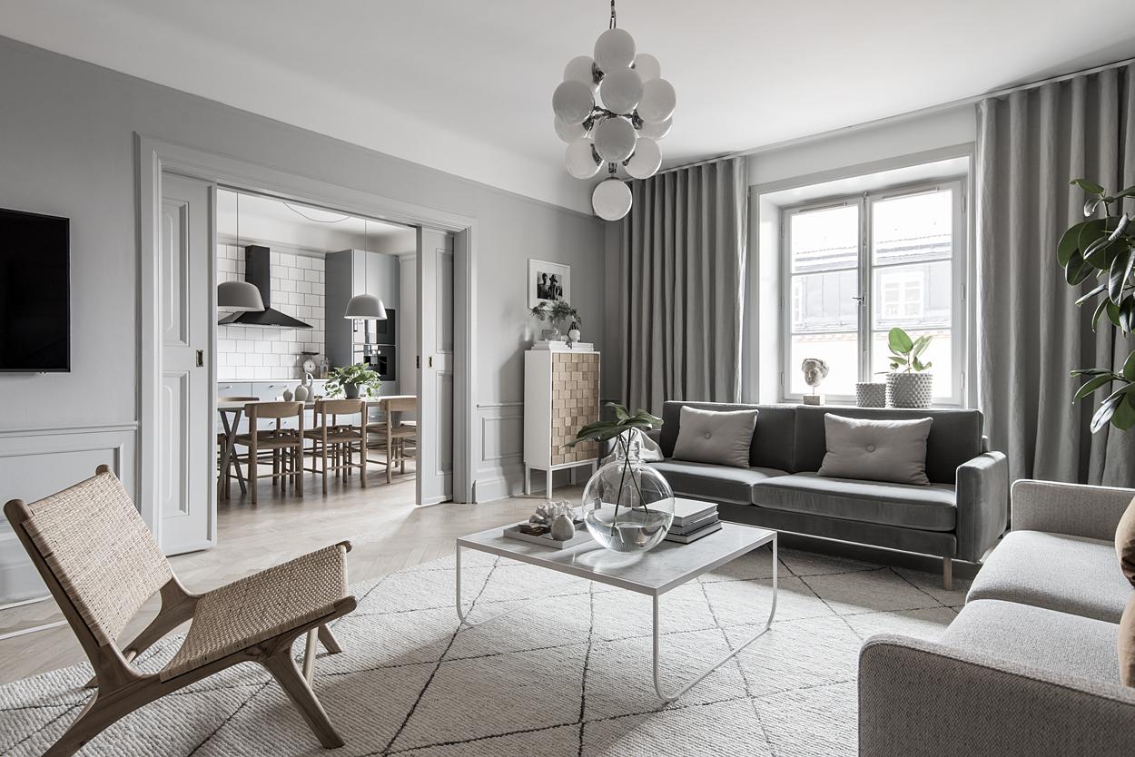 Elegante appartamento nordico in grigio arc art blog by for Arredamento nordico moderno