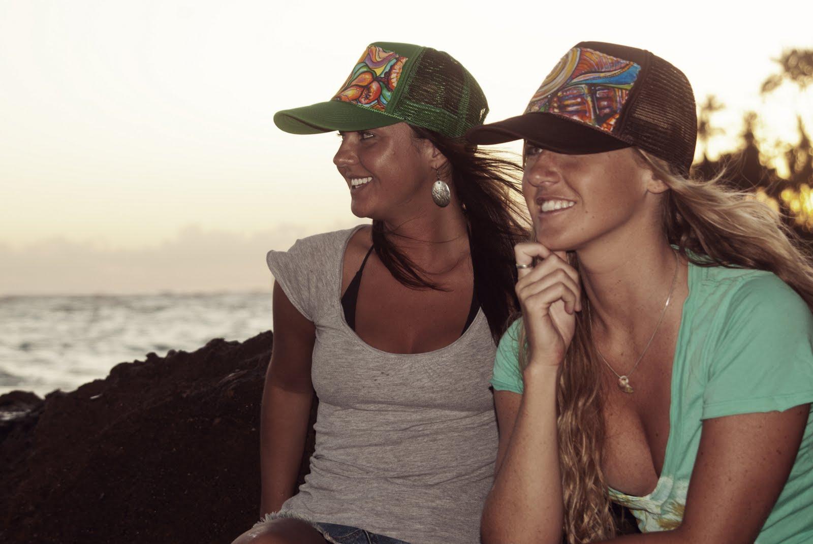 732085324 Aloha Trucker Hats | Colleen Wilcox Art