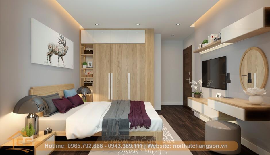 thi công nội thất phòng ngủ chung cư goldmark city