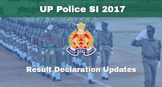 यूपी पुलिस एसआई परिणाम 2018