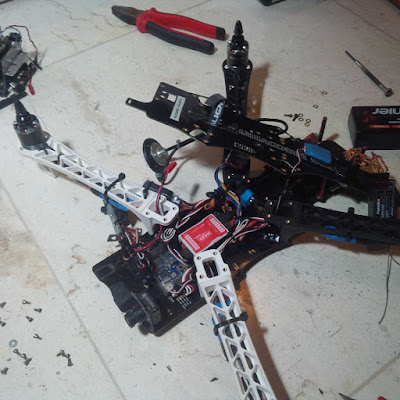 Perakitan Quad Copter Drone berjenis FPV Drone