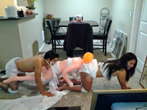 Human Centipede Funny Halloween Costume