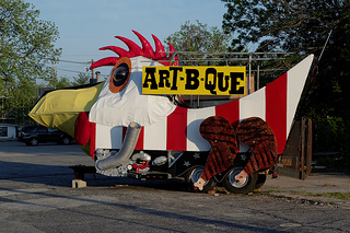 Advertisement for Art-B-Que in Avondale Estates, GA